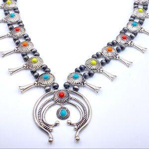 Vintage Multi-Colored Squash Style Necklace